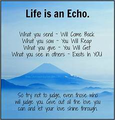daveswordsofwisdom com life is an echo