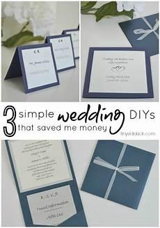 3 simple do it yourself wedding ideas wedding invites