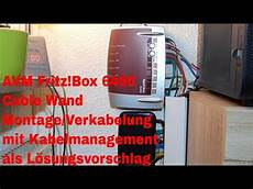 türsprechanlage fritzbox 7490 avm fritz box 6490 cable wand montage verkabelung mit