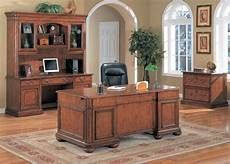 oak home office furniture viscante traditional oak double pedestal executive desk