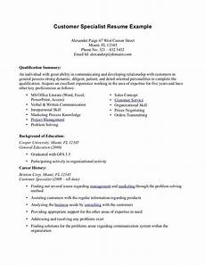 summary of qualifications resume sle with images