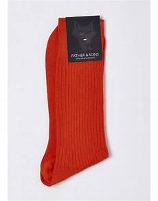 chaussettes en coton fil d 233 cosse orange chaussettes