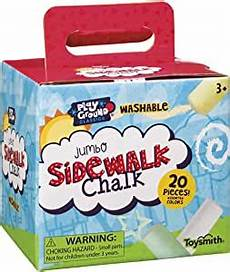 Amazon Com Chalk City Sidewalk Chalk 20 Count Toysmith Jumbo Sidewalk Chalk 20 Count Amazon Ca Toys