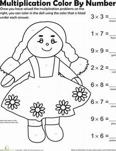 3rd grade math worksheet color by number coloring pages third grade multiplication worksheets