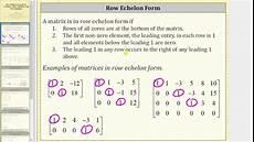 row echelon form pivot basic and free variables youtube