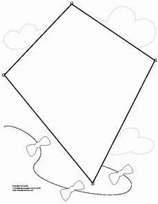 drachen vorlage kite shapebook unlined template education world