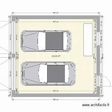 longueur garage 2 voitures garage 2 voitures plan 1 pi 232 ce 33 m2 dessin 233 par jeremy27240