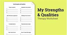 my strengths and qualities worksheet therapy worksheets self esteem activities solution