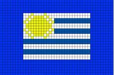 flag of uruguay pixel art brik