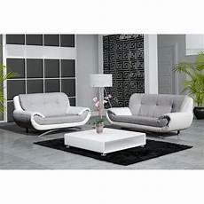 canapé 3 places design canape design 3 2 places revetement pu et tissu achat vente canap 233 sofa divan cdiscount