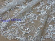 White Wedding Gown Material white highend wedding dress embroidery fabric by