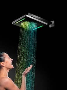 doccione doccia bagno italiano iris soffione doccia in acciaio inox a led