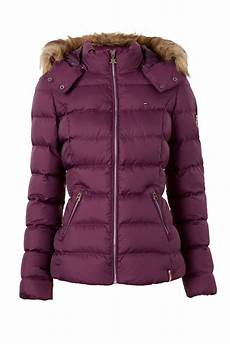 hilfiger martina hooded jacket in purple lyst