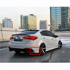 rear lip bumper kit unpainted 2p 1set for 2013 2015