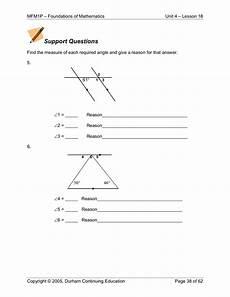 geometry worksheets grade 9 607 grade 9 applied math mfm1p 4 18 angle geometry barr