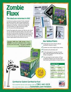 zombie fluxx sell sheet looney labs