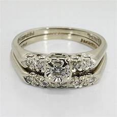 vintage wedding rings 14k white gold diamond vintage wedding ring online pawn shop