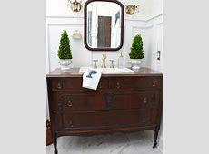 Turn a Vintage Dresser Into a Bathroom Vanity   Diy