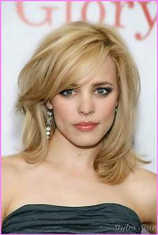 hair shoulder style above the shoulder haircuts with side bangs for
