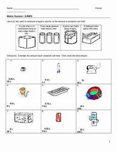 worksheet metrics liters and milliliters by jjms tpt