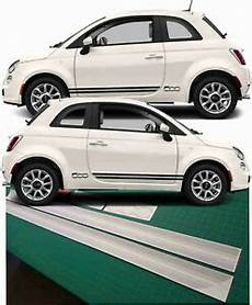fiat 500 sport side stripes graphics decals stickers pop