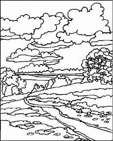 Malvorlagen Landschaften Gratis Tari Bach Durch Eine Landschaft Ausmalbild Malvorlage