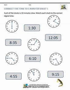 math worksheets for grade 1 telling time 3550 telling time clock worksheets to 5 minutes