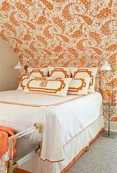 Orange Wallpaper For Bedroom