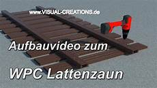 Aufbau Wpc Lattenzaun Zaunsystem Gartenzaun Zierzaun