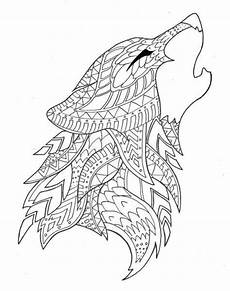 adult coloring pages alfa wolf animal coloring pages wolf colors mandala coloring pages