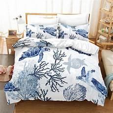 sea turtle duvet cover pillow cases ocean animal turtle bedding queen kids home