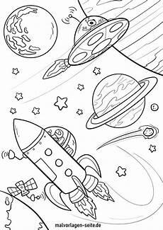 Weltraum Raketen Malvorlagen Malvorlage Raumschiff Und Planeten Ausmalbilder