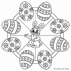 Osterhase Ausmalbilder Mandala Ostereier Mandala 187 Gratis Ausdrucken Ausmalen 187 Artus
