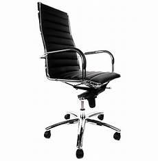 chaise de bureau la redoute 107267 fauteuil de bureau design milan en simili cuir noir