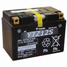 batterie moto honda batteria yuasa ytz12s 12 v 11 ah gel honda sh i 300 silver