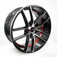 18 zoll felgen 4 gwg wheels 18 inch black undercut rims fits 5x115