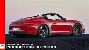 Porsche 911 Speedster Production Version  YouTube