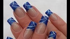 einfaches schlichtes blaues nageldesign winter n 228 gel