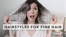 3 quick and easy hairstyles for fine hair youtube