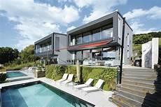 Geplantes Kundenhaus Ultra Modernes Haus Am Hang