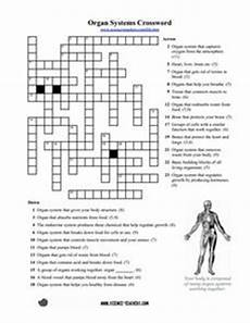 organ systems crossword puzzle worksheet for 5th 8th grade lesson planet