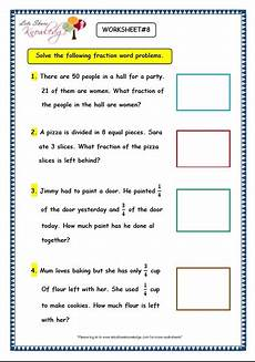 grade 3 maths worksheets 7 9 fraction word problems lets share knowledge