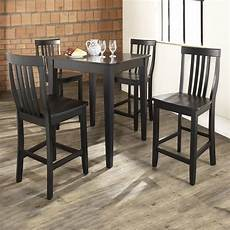 Dining Table With Stools by Shop Crosley Furniture Black Dining Set With Square