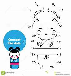 japan worksheets for kindergarten 19565 connect the dots by numbers educational for children and japanese kokeshii doll in