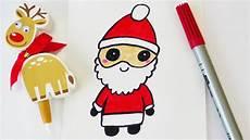 kawaii weihnachtsmann zeichnen s 252 223 er nikolaus als