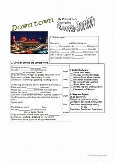 downtown by petula clark or bunton worksheet free esl printable worksheets made by teachers