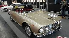 alfa romeo bertone 1963 alfa romeo 2600 cabriolet bertone classic expo salzburg 2016