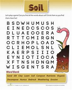 plants and soil worksheets 13633 soil word search with images earth science homeschool soil activities science words