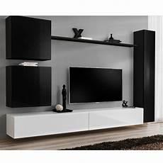Meuble Tv Mural Design Quot Switch Viii Quot 280cm Noir Blanc