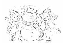 Jahreszeiten Malvorlagen Kostenlos Spielen Kinder Spielen Mit Schneemann Ausmalbilder Ausmalbilder